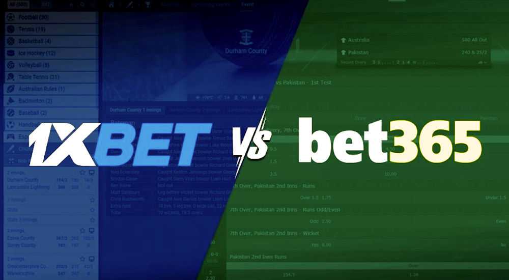 1xBet and Bet365